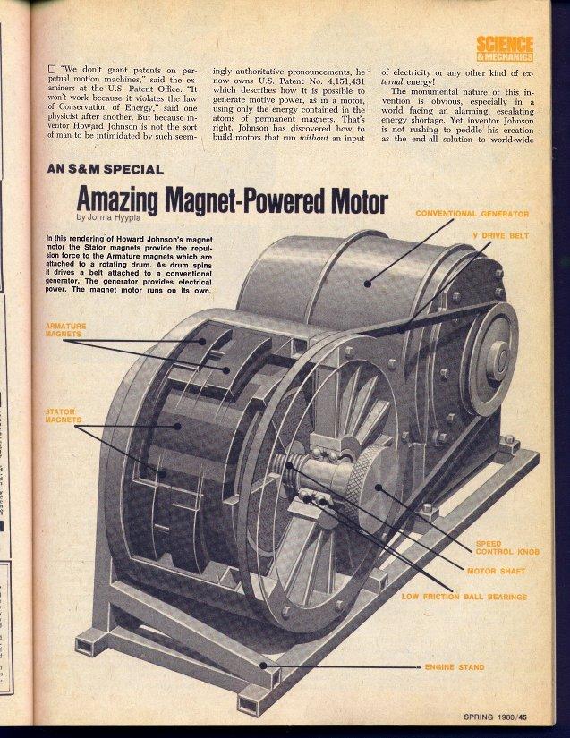 Howard Johnson S Permanent Magnet Motor
